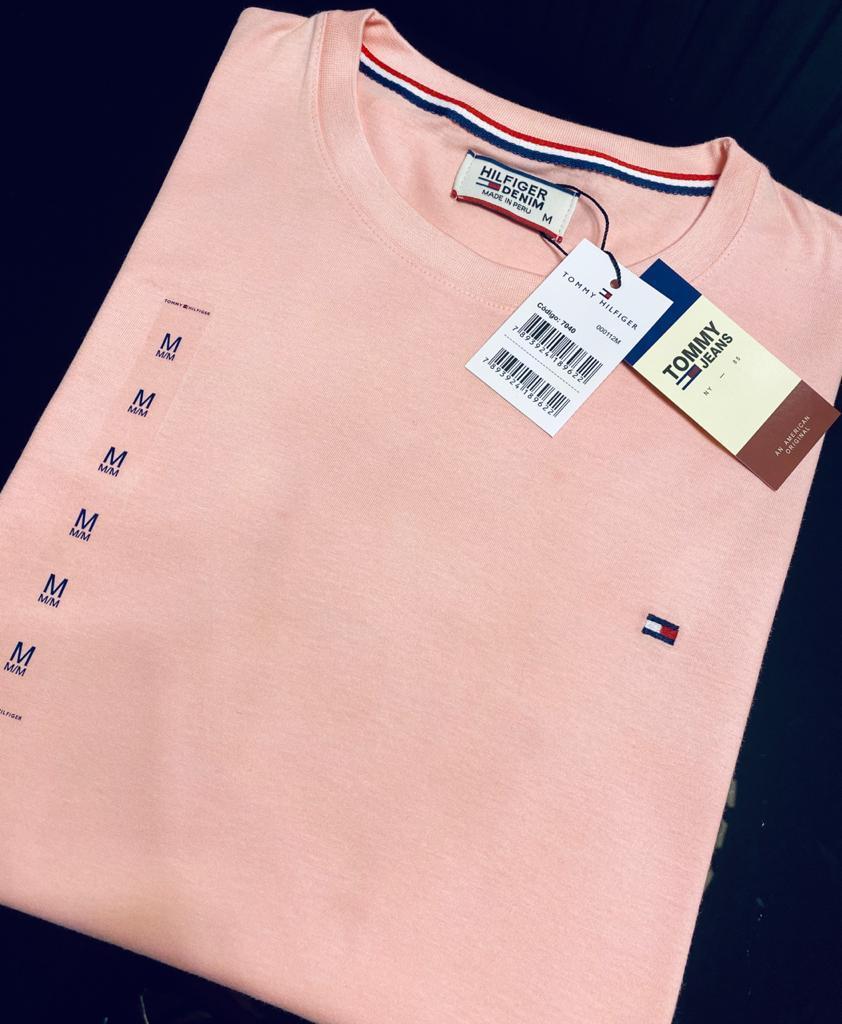 Camiseta Masculina Tommy Hilfiger Bordada Premium (cada)