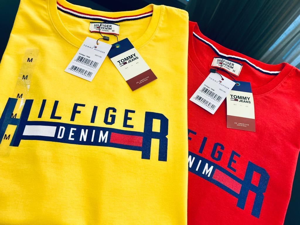 Camiseta Masculina Tommy Hilfiger Estampada Premium (cada)