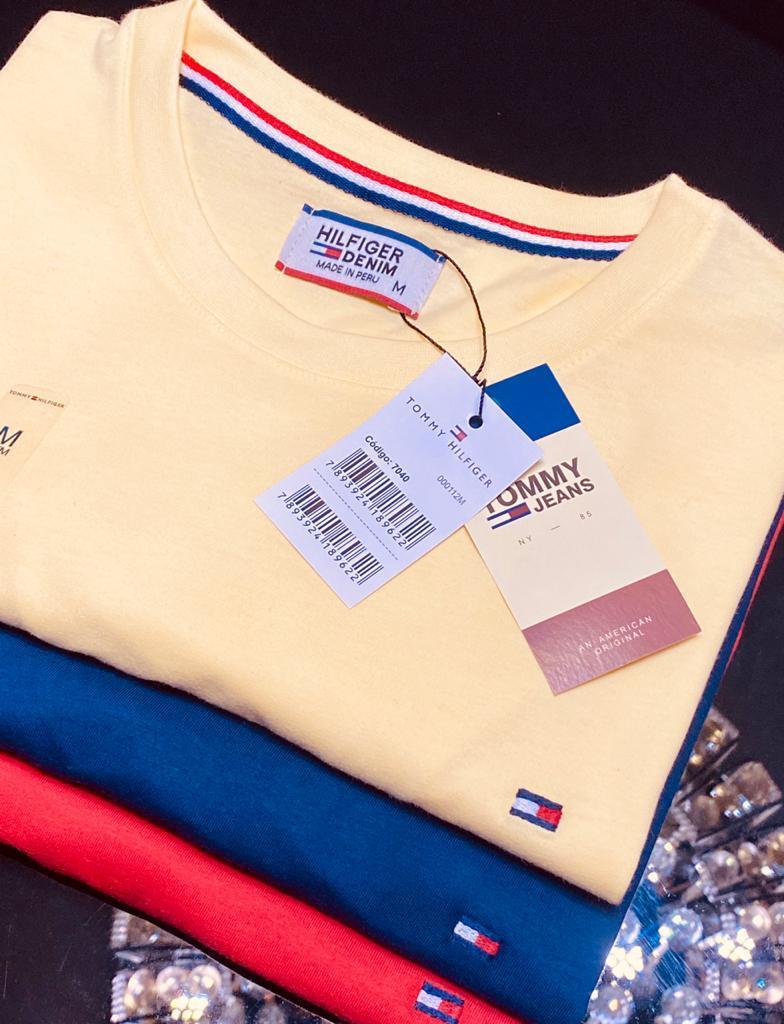 Camiseta Masculina Tommy Hilfiger Tamanho ESPECIAL Premium (cada)