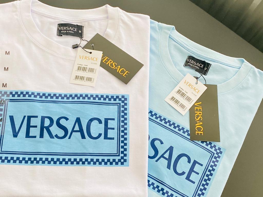 Camiseta Masculina Versace Estampada Premium (cada)