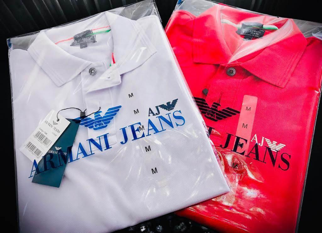 Gola Polo Armani Jeans Masculina Premium (cada)