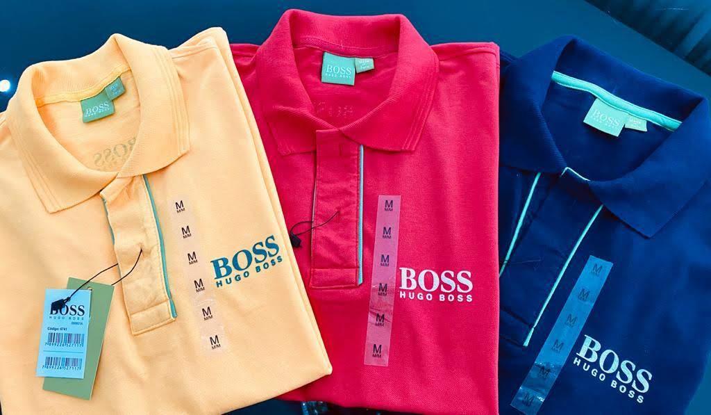 Gola Polo Hugo Boss Masculina Premium (cada)