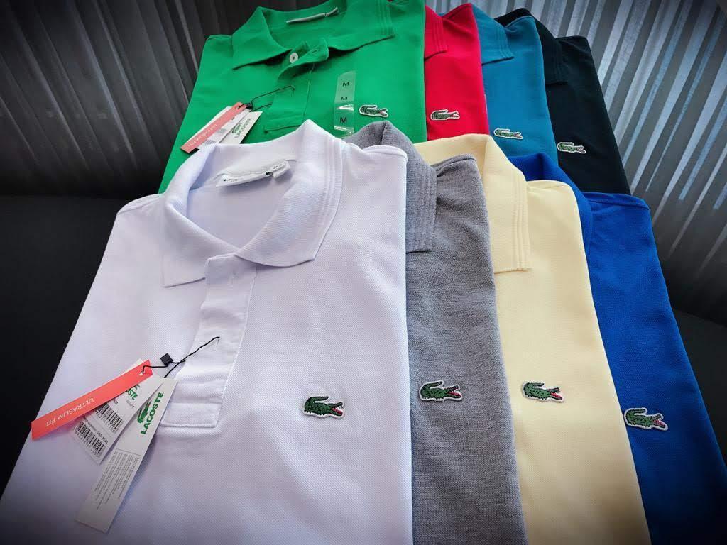 Gola Polo Lacoste Clássica Masculina Premium (cada)