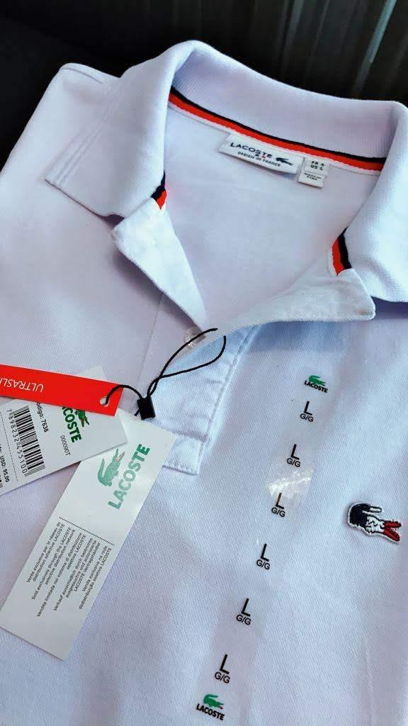 Gola Polo Lacoste França Masculina Premium (cada)