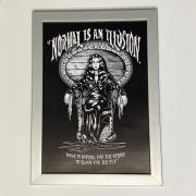 Quadro  Moldura Prata Mortícia Addams