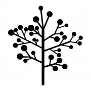 Adesivo Alto Relevo - Arvore Outono - Galhos - 50x50cm