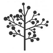 Adesivo Em Alto Relevo P/ Parede - Arvore Outono -  120x130cm - Preto