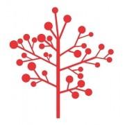 Adesivo Em Alto Relevo P/ Parede - Arvore Outono - 80x80cm - Vermelho