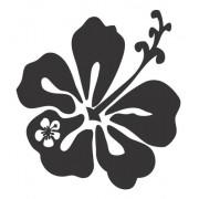 Adesivo Parede Em Alto Relevo Flor 70x75cm - Preto