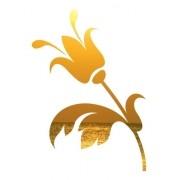Adesivo Parede Em Alto Relevo - Flor Tulipa 60x85cm - Dourado
