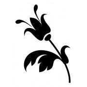 Adesivo Parede Em Alto Relevo - Flor Tulipa 90x130cm - Preto