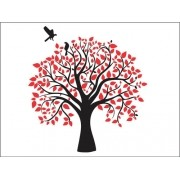 Árvore Decorativa Autocolante Em Mdf P/ Parede 1,20