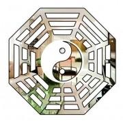 Baguá Celestial Decorativo Acrílico Espelhado 35x35cm