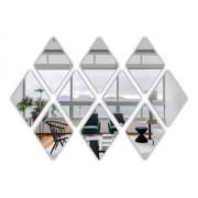 Espelho Acrílico Decorativo -  Mosaico Losango 10 Peças - 10x15cm Cada