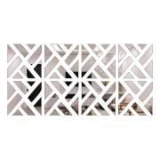 Espelho Decorativo Acrílico Mosaico Clássico - 100x50cm