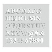 Espelho Decorativo Letras - 7 Letras - 10cm