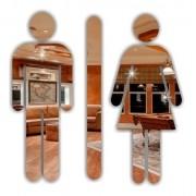 Espelho Em Acrilico Decorativo P/ Banheiro 3 Peças - 20x20cm