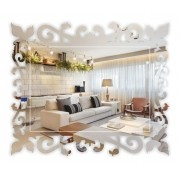 Espelho Acrílico | Decoração Espelhada - Arabesco | Veneziano (40x30cm)