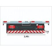 Faixa Refletiva Parachoque De Caminhão / Carreta Sherman - 240x10cm