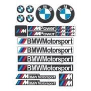Kit Adesivos para Capacete Bmw Motosport