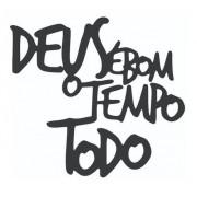 Kit Deus É Bom Em Mdf + 3 Espelhos Mandala