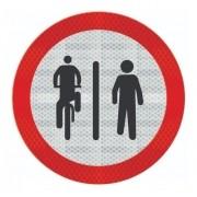 Placa Ciclista À Esquerda, Pedestre À Direita R-36a Grau Técnico Comercial - 50x50cm