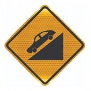 Placa De Rua Declive Acentuado Grau Técnico A-20a Grau Técnico I - 50x50cm