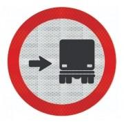 Placa Ônibus, Caminhões Mantenha À Direita Refletivo R-27 Grau Técnico Comercial - 50x50cm