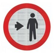 Placa Pedestre, Ande Pela Direita Refletivo R-31 Grau Técnico I - 50x50cm