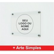 Placa Personalizada Empresa | Logo | Marca | Nome - 100x30cm