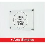 Placa Personalizada Empresa   Logo   Marca   Nome - 100x50cm