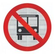 Placa Proibido Trânsito De Ônibus Refletivo R-38 Grau Técnico I - 50x50cm