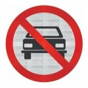 Placa Proibido Trânsito Veículos Automotores R-10 Grau Técnico Comercial - 50x50cm