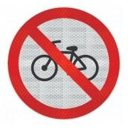 Placa R-12 (proibido De Bicicletas) Refletivo Grau Técnico I - 50x50cm