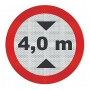 Placa R-15 (altura Máxima Permitida) Refletivo Grau Técnico Comercial - 50x50cm