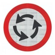 Placa Sentido Circular Na Rotatória R-33 Grau Técnico Comercial - 50x50cm