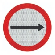 Placa Sentido De Circulação Da Via Adesivo Refletivo R-24a