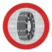 Placa Uso Obrigatório De Corrente C/ Adesivo Refletivo R-22
