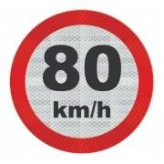 Placa Velocidade Máxima Refletiva R-19 Grau Técnico Comercial - 50x50cm
