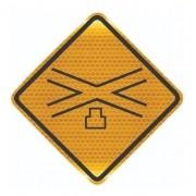 Placa Viária Cruz De Santo André Refletivo A-41 Grau Técnico I - 50x50cm