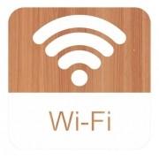 Placa Wi-fi Em Alto Relevo  - 15x15cm