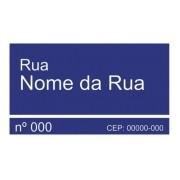 Placas Nome De Rua Logradouro 45x25 Grau Técnico Comercial / Abnt