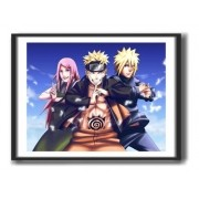 Quadro Decorativo Com Moldura - Naruto  - Escolha o Seu - 50x40cm