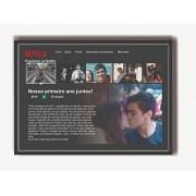 Quadro Personalizavel Com Moldura - Netflix - Presente ideal - Monte o seu - 40x30cm