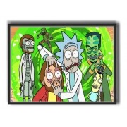 Quadro decorativo com Moldura  - Series - Rick And Morty Portal - 50x40cm