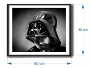 Quadro decorativo com Moldura - Star Wars - Darth Vader Perfil -  50x40cm