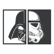 Kit 2 Quadros - Decorativo - Star Wars - Darth Vader | Stormtrooper - 30x20