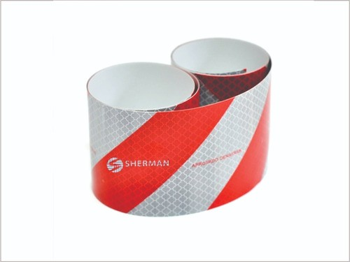 1 Faixa Refletiva Capacete 40x3,5cm + 1 Faixa Bau Sherman 1,40x5cm
