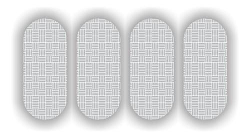 5 Cartelas Etiqueta Refletiva P/ Capacete Sherman 7x2,5cm