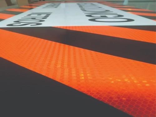 Kit 5un - Faixa Adesiva Traseira De Caminhão Veículo Longo - 230x80cm